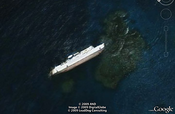 Lost (and Found) at Sea - Top 10 Google Earth Finds - TIME