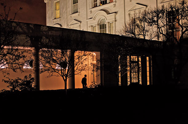 Obama heads home to have dinner with his family in early December.