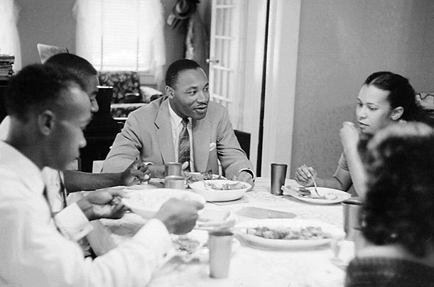 Head of the Table  News of the Montgomery bus boycott spread across the U.S. and abroad. Donations supporting the boycotters poured in and Dr. King's words were heard by millions.