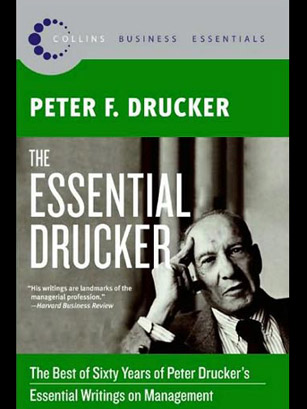 peter drucker explanation involving online business article