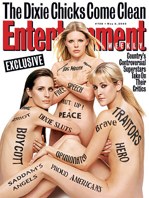 Dixie Chicks, Entertainment Weekly - Top 10 Nude Magazine Covers ...